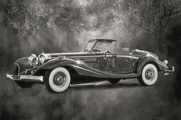 Wall Art - Photograph - 1934 Mercedes - Benz- B W by Donna Kennedy