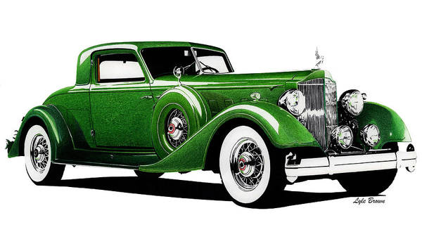 Wall Art - Photograph - 1934 Packard Twelve Sport Coupe by Lyle Brown