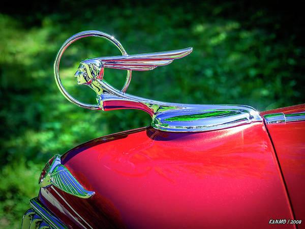 Digital Art - 1934 Pontiac Softail Hood Ornament by Ken Morris