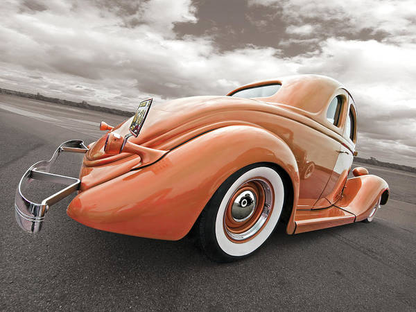 Gill Photograph - 1935 Ford Coupe In Bronze by Gill Billington
