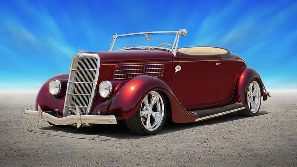 Street Rod Photograph - 1935 Ford Roadster by Mike McGlothlen