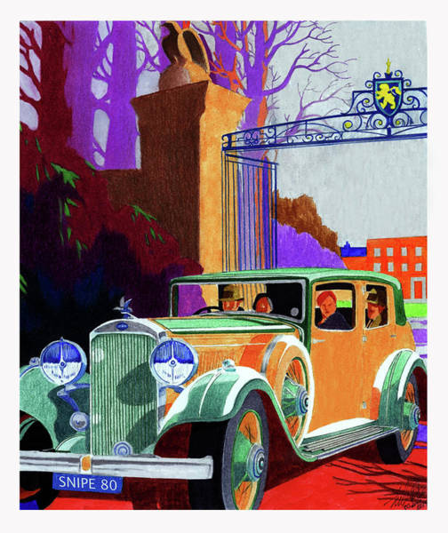 Wall Art - Mixed Media - 1935 Humber Snipe 80 by Lyle Brown