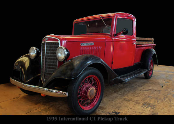 Photograph - 1935 International C1 Pickup Truck by Chris Flees