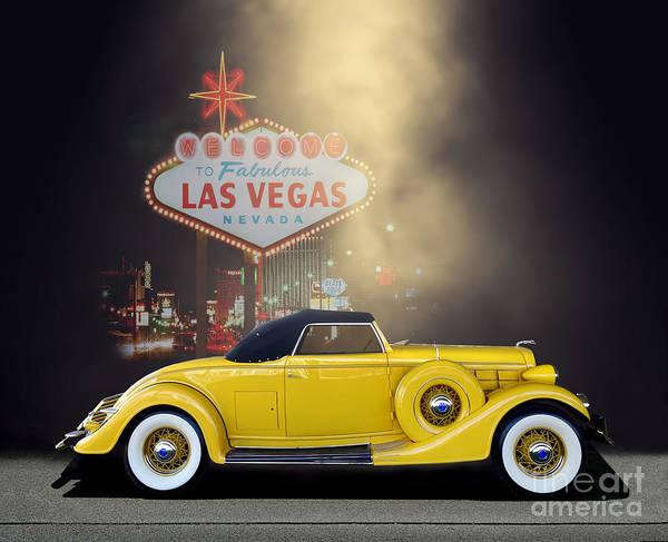 Wall Art - Photograph - 1935 Lincoln Roadster Vegas by Thomas Burtney