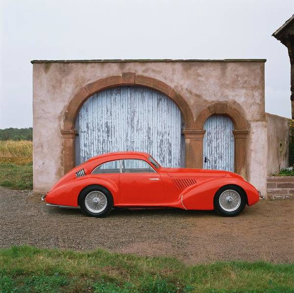 Sport Car Photograph - 1936 Alfa Romeo 8c 2900 Coupe With by Car Culture