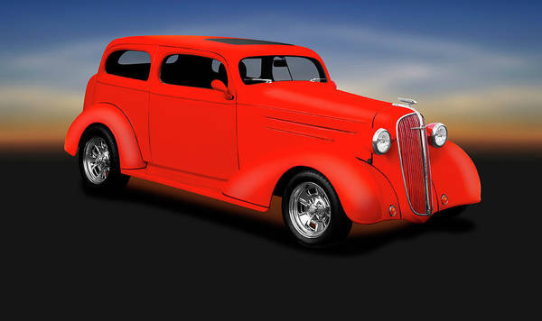 Wall Art - Photograph - 1936 Chevrolet 2 Door Sedan  -  1936chevrolet2doorsedan196834 by Frank J Benz