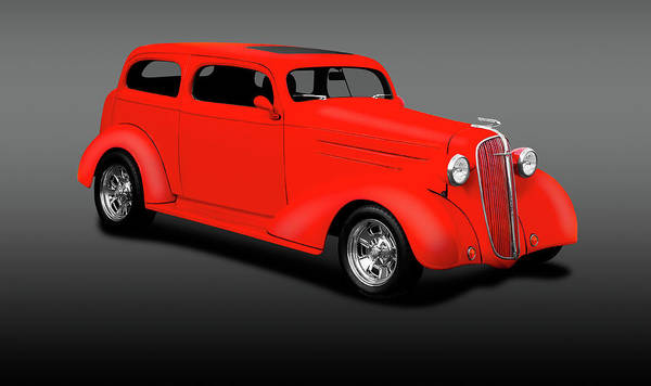 Wall Art - Photograph - 1936 Chevrolet 2 Door Sedan  -  1936chevrolet2doorsedangray196834 by Frank J Benz