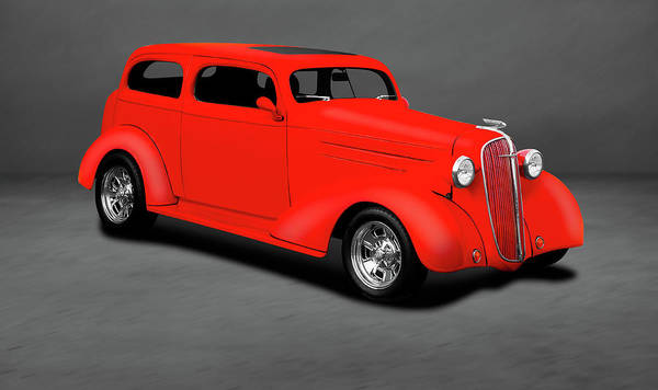 Wall Art - Photograph - 1936 Chevrolet 2 Door Sedan  -  1936chevy2doorsedandblgray196834 by Frank J Benz