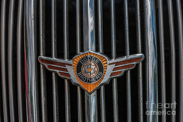 Wall Art - Photograph - 1936 Dodge Emblem by Tony Baca