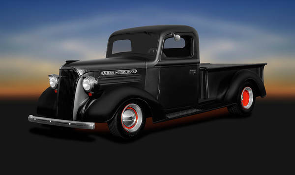 Wall Art - Photograph - 1937 Chevrolet Pickup Truck  -  1937chevroletpickup196765 by Frank J Benz