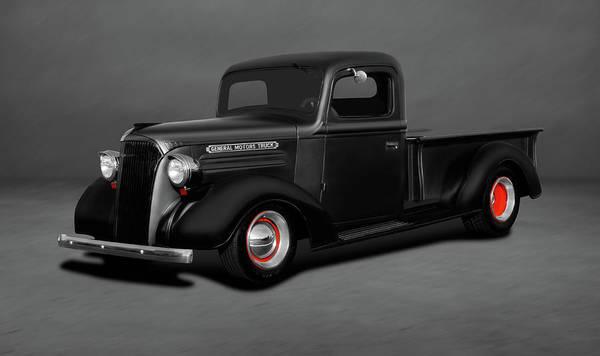 Wall Art - Photograph - 1937 Chevrolet Pickup Truck  -  1937chevrolettruckdblgray196765 by Frank J Benz