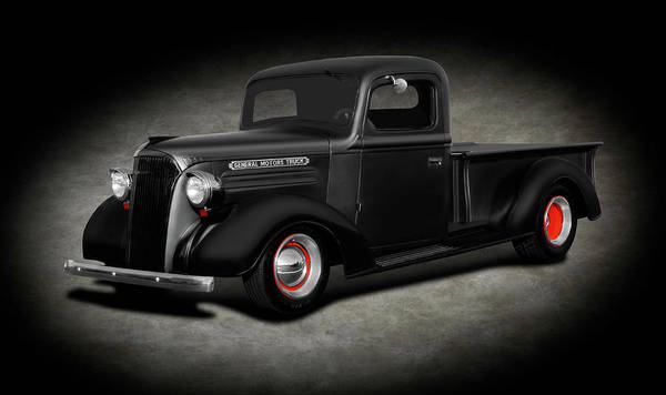 Wall Art - Photograph - 1937 Chevrolet Pickup Truck  -  1937chevypickuptrucktexture196765 by Frank J Benz