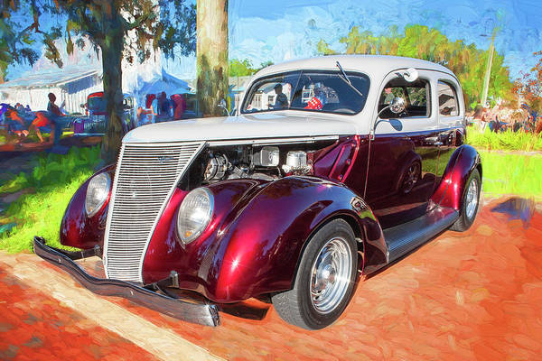 Photograph - 1937 Ford 2 Door Slant Back Hot Rod 11a by Rich Franco