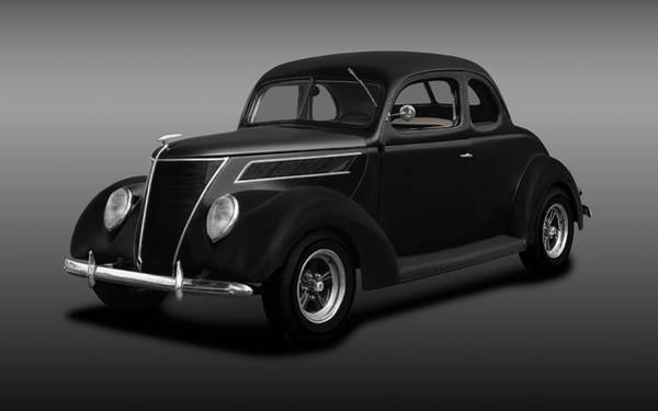 Wall Art - Photograph - 1937 Ford 5 Window Coupe  -  1937ford5windowcoupefine173664 by Frank J Benz