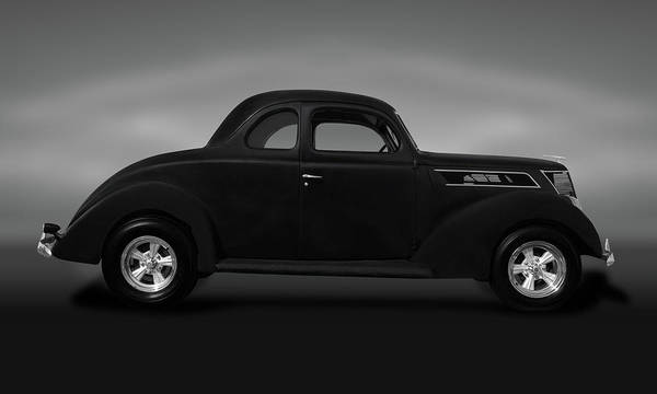 Wall Art - Photograph - 1937 Ford 5 Window Coupe  -  1937ford5windowcoupegray173589 by Frank J Benz