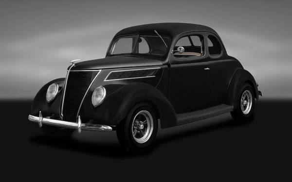 Wall Art - Photograph - 1937 Ford 5 Window Coupe  -  1937ford5windowcoupegray173664 by Frank J Benz