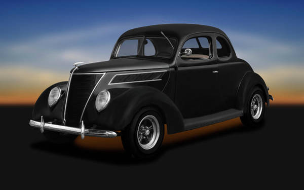 Wall Art - Photograph - 1937 Ford 5 Window Coupe  -  1937fordfivewindowcoupe173664 by Frank J Benz