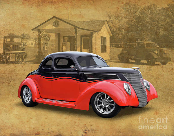 Wall Art - Photograph - 1937 Ford Coupe Street Rod by Ron Long
