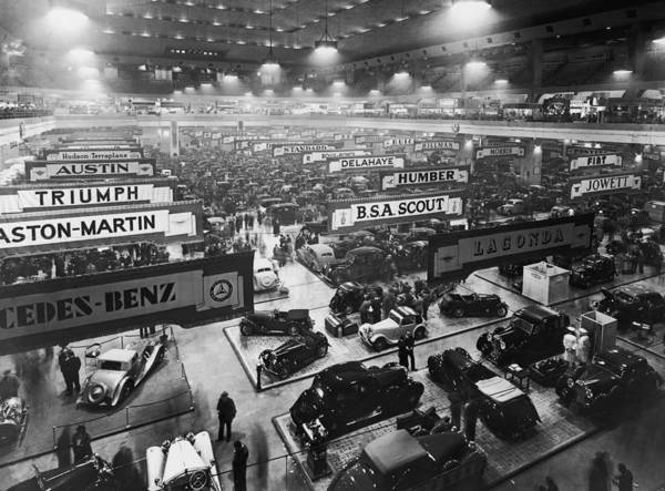 Court Photograph - 1937 Motor Show by Fox Photos