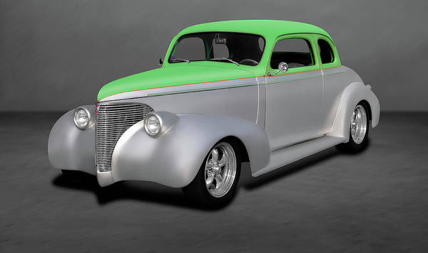 Wall Art - Photograph - 1939 Chevrolet 5 Window Coupe  -  1939chevy5windowcoupedblgry197758 by Frank J Benz