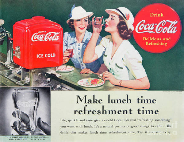 Photograph - 1939 Coca Cola Ad by Kevin McCarthy