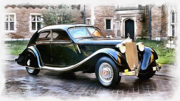 Wall Art - Mixed Media - 1939 Mercedes Benz by Maciek Froncisz