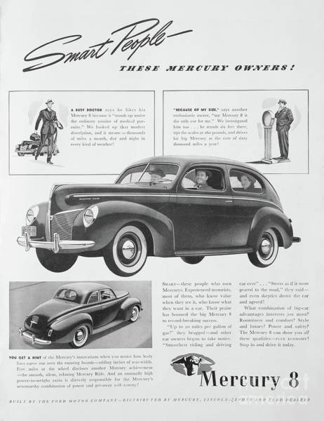 Photograph - 1940 Mercury Automobile Ad by Kevin McCarthy