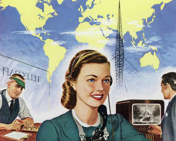 1940s Communication Technology Art Print