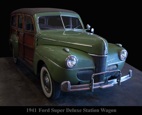 Photograph - 1941 Ford Super Deluxe Station Wagon by Chris Flees