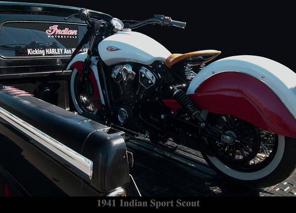 Photograph - 1941 Indian Sport Scout by Chris Flees