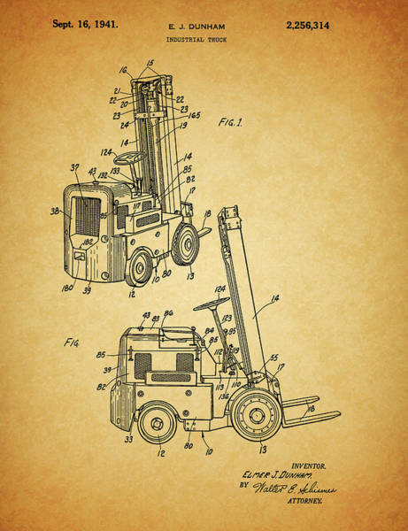 Wall Art - Drawing - 1941 Lift Truck by Dan Sproul