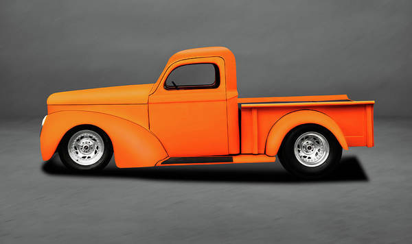 Wall Art - Photograph - 1941 Willys Pickup Truck  -  1941willystruckstreetrodgray196868 by Frank J Benz
