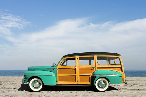Insurance Photograph - 1942 Mercury Series 29a Station Wagon by Car Culture