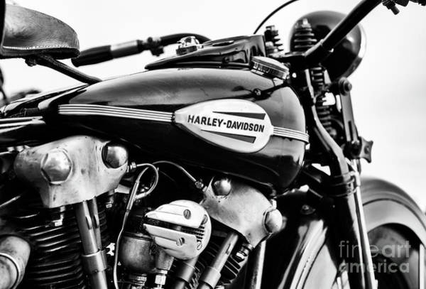Wall Art - Photograph - 1946 Knucklehead Monochrome by Tim Gainey