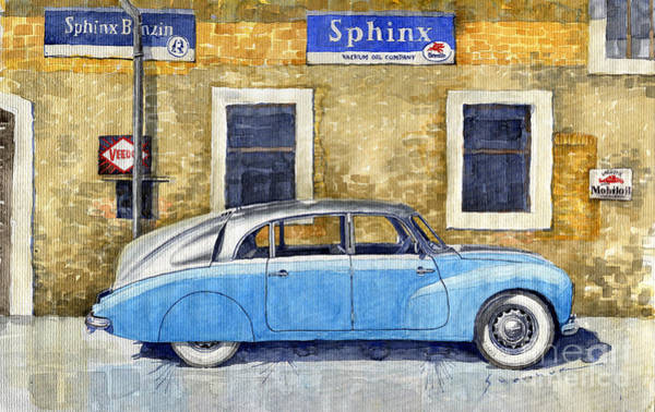 Wall Art - Painting - 1948-1949 Tatra T87 by Yuriy Shevchuk