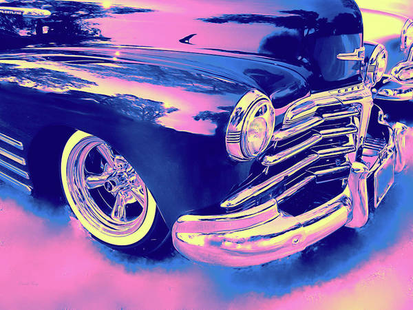 Digital Art - 1948 Chevy Fleetline On The Down Low Blue by David King