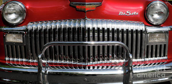 Wall Art - Photograph - 1948 Desoto Grill by Steve Gass