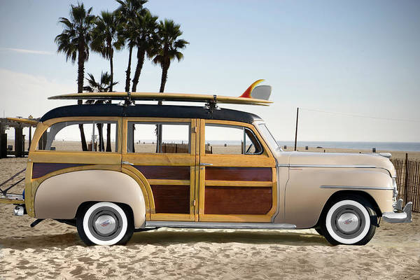Sport Car Photograph - 1948 Plymouth Special Deluxe Woodie by Car Culture