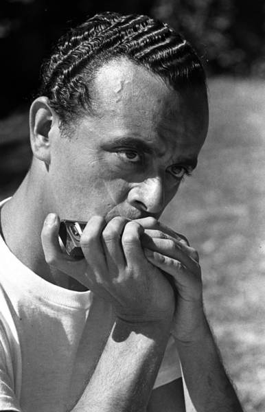 Harmonica Photograph - 1949. A Picture Of American Musician by Popperfoto