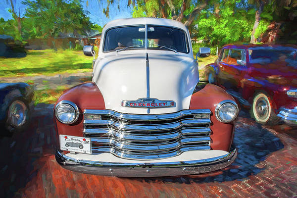 Photograph - 1949 Chevrolet 3100 Series Panel Truck 301 by Rich Franco