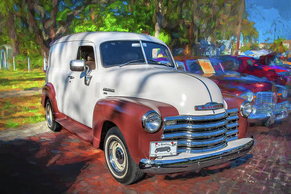Photograph - 1949 Chevrolet 3100 Series Panel Truck A109 by Rich Franco