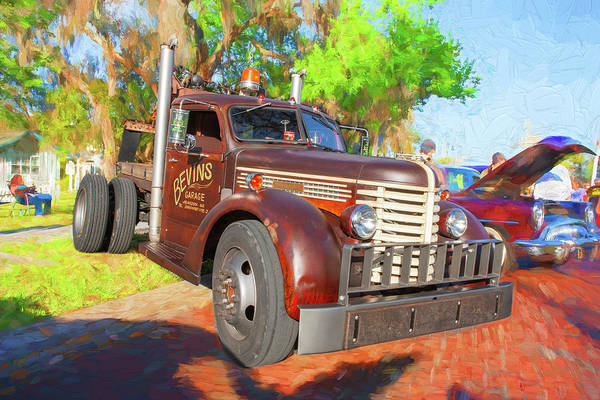 Photograph - 1949 Diamond T Tow Truck 100 by Rich Franco