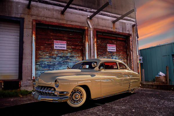 Photograph - 1950 Custom Merc by Bill Posner