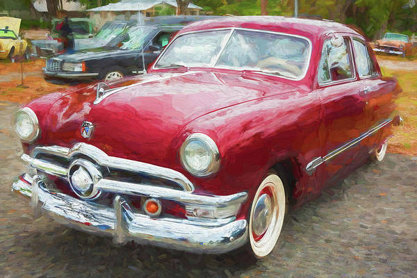 Wall Art - Photograph - 1950 Ford Deluxe 2-door Club Coupe 213 by Rich Franco