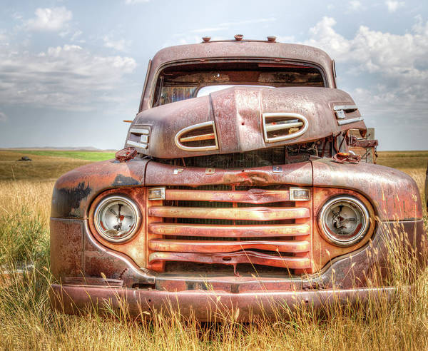 Heavy Duty Truck Wall Art - Photograph - 1950 Ford F-3 by Chad Rowe