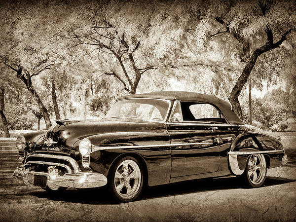 Photograph - 1950 Oldsmobile 88 -004bwcl by Jill Reger