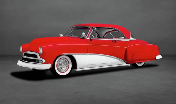 Wall Art - Photograph - 1951 Chevrolet 2 Door Hardtop Coupe  -  1951chevrolethdtpcoupedblgraystripe197105 by Frank J Benz