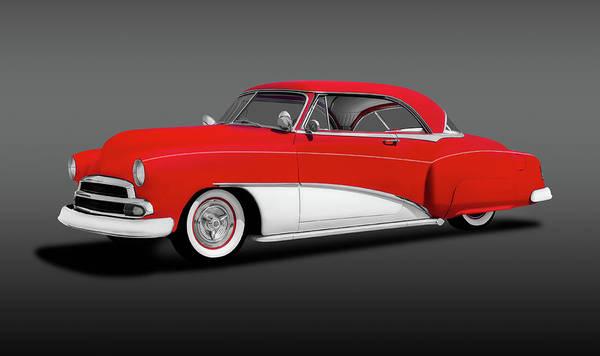 Wall Art - Photograph - 1951 Chevrolet 2 Door Hardtop Coupe  -  1951chevy2drhdtpcoupegraystripe197105 by Frank J Benz
