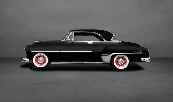 Wall Art - Photograph - 1952 Chevrolet Deluxe Hardtop Coupe  -  1952chevydeluxehdtpcpedblgry140526 by Frank J Benz