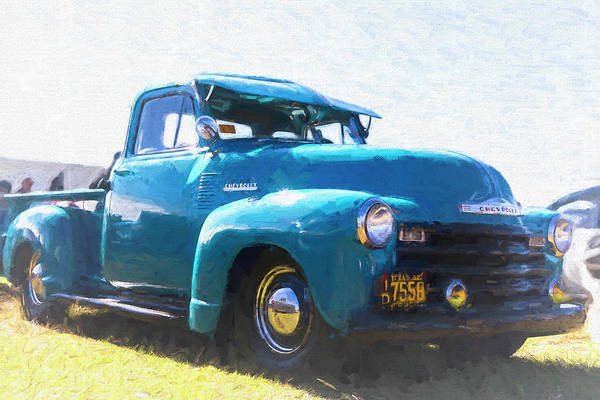 Awesome Show Digital Art - 1952 Chevy Truck by Timothy Rohman